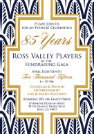 ChromaKit Graphic Design Ross Valley Players Fundraising Gala Invite
