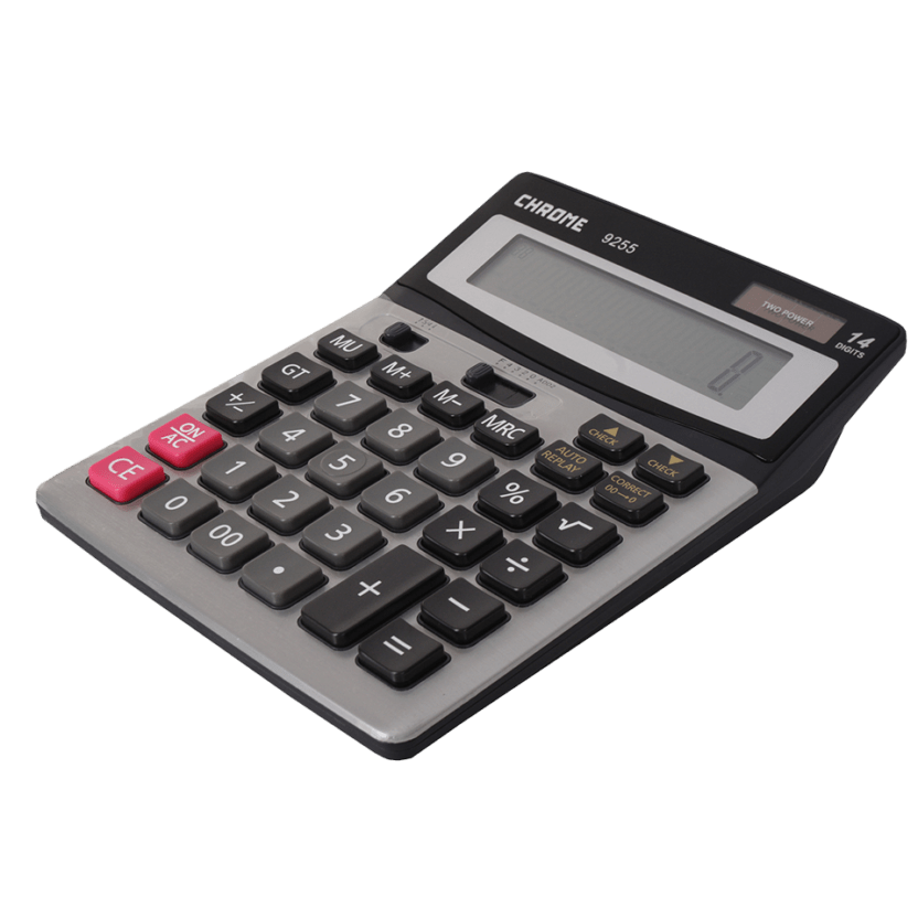 Chrome Calculator Silver (Box)