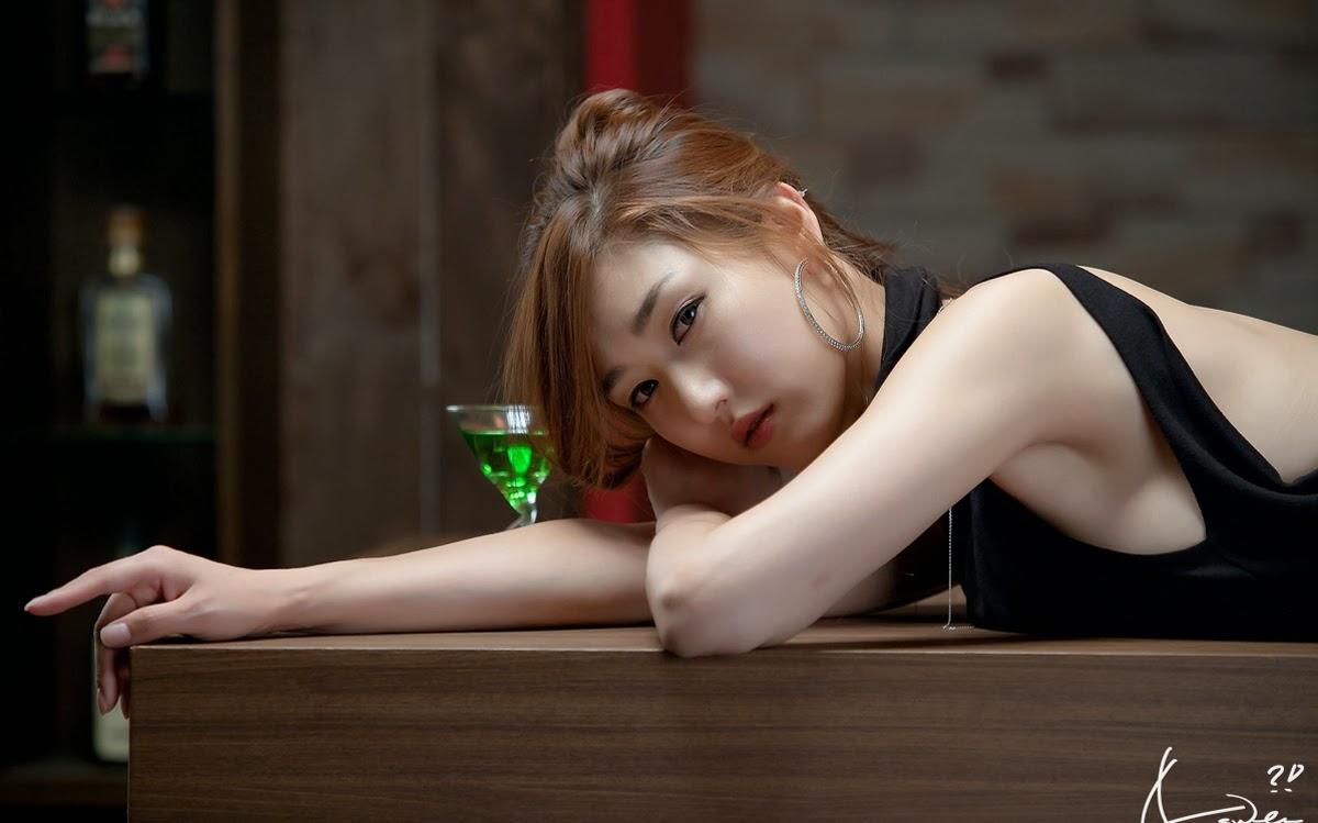 Cute Korean Wallpaper For Android Nam Eun Ju In Black Dress Chrome Geek