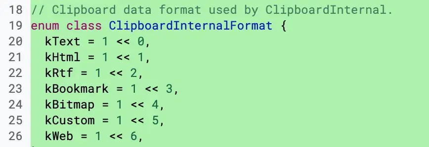 Type of data for Clipboard manager