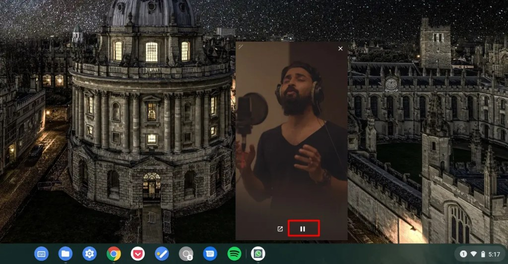Playback control in Picture in Picture mode