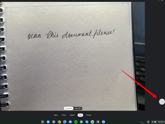 Scan Using Chromebook Camera App