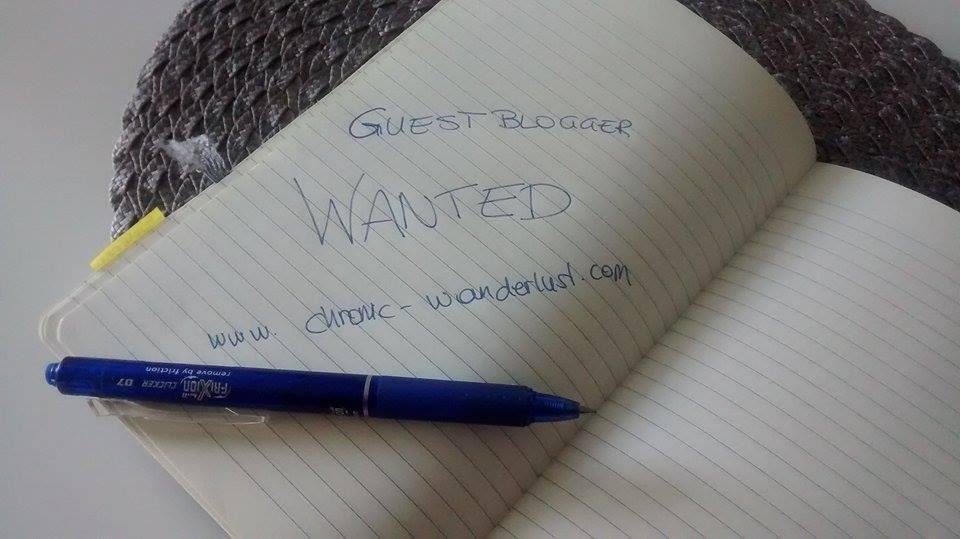 Write for Chronic Wanderlust - Guestblogger