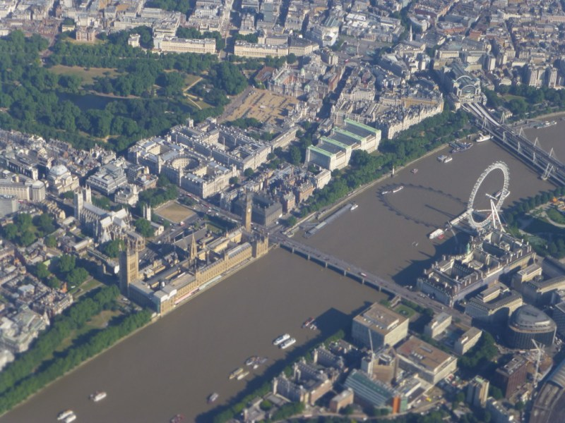 London from above Chronic Wanderlust