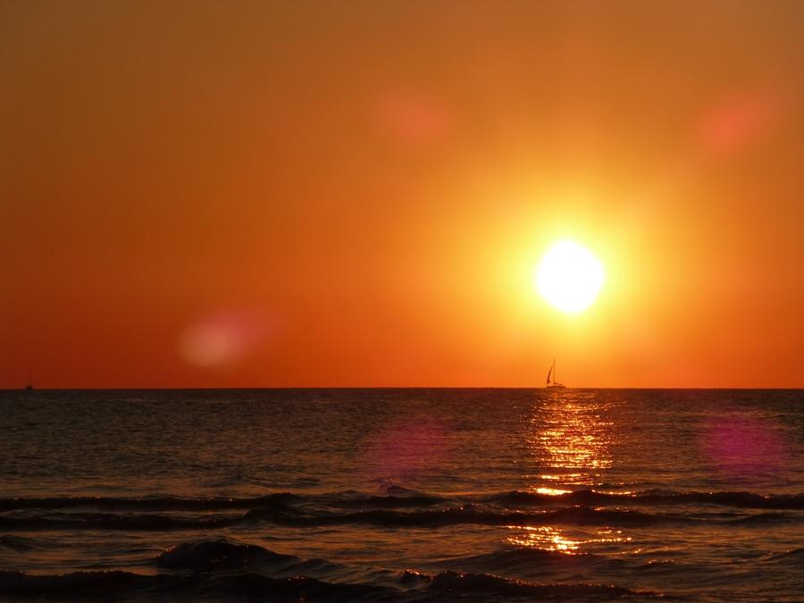 Sun set Tel Aviv Israel