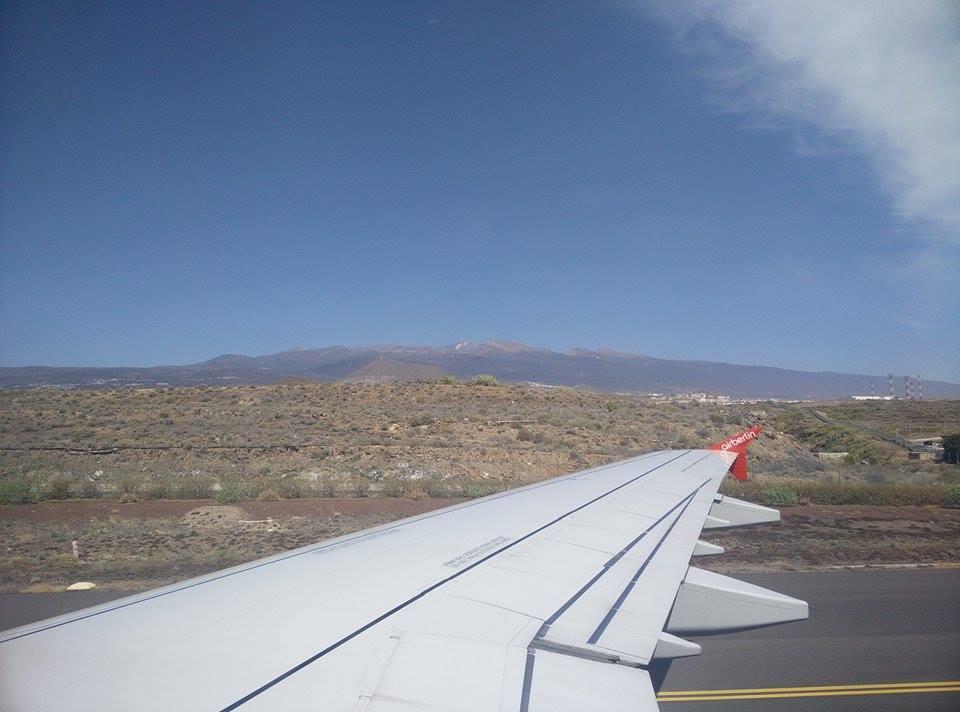Tenerife Teide plane view