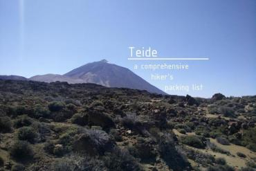 Teide - a comprehensive hiker's packing list