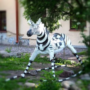 Uzupis, Unicorn Zebra, Street Art Lithuania