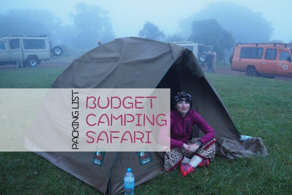 Packing list budget camping safari