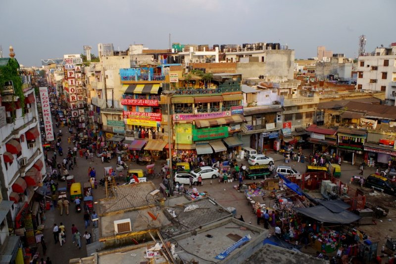overlooking main bazaar road