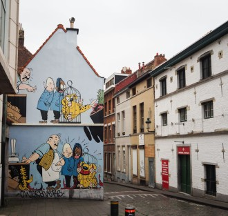 brussels comic book walls