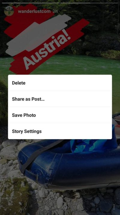 Instagram Stories vorbereiteter Content teilen