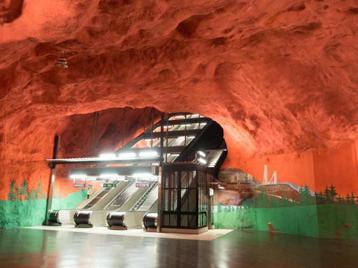Solna Centrum Metrostation Stockholm