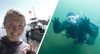 Diving dry suit learning