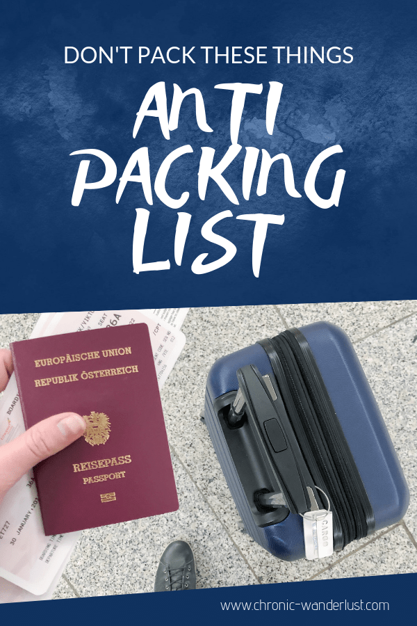 anti packing list for travelling