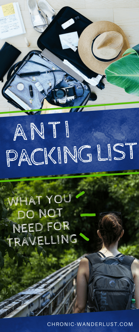 Anti packing list Pinterest