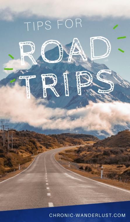 tips for road trips pinterest
