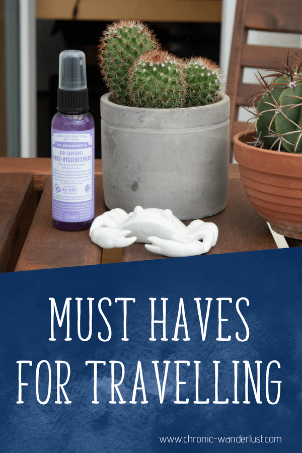 must haves for travelling
