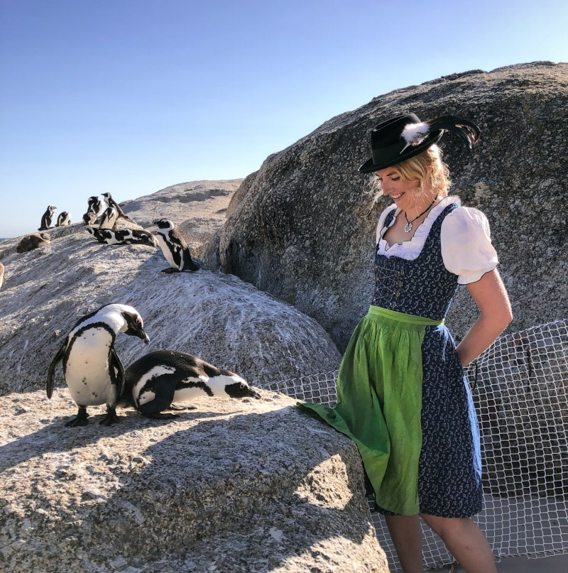 Dirndl Penguins South Africa Viktoria Urbanek