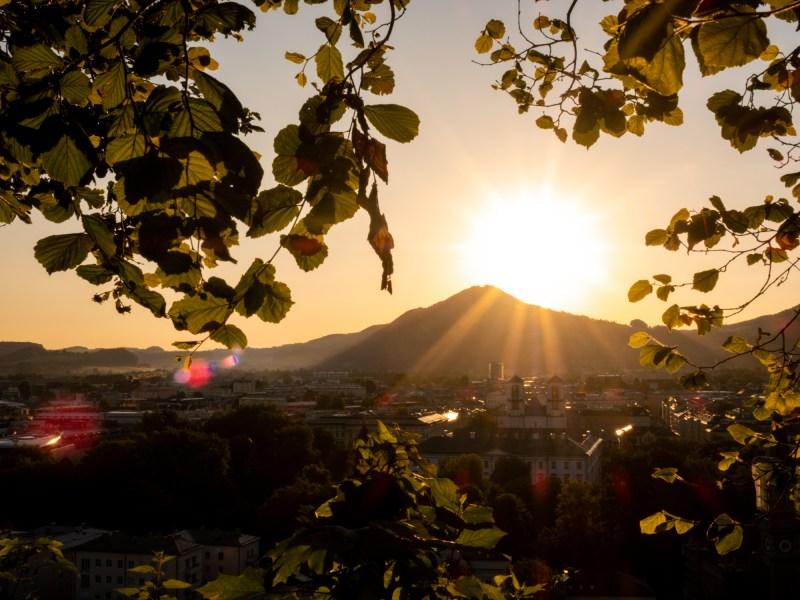 Humboldtterrasse Salzburg Viewpoint Sunrise sunset