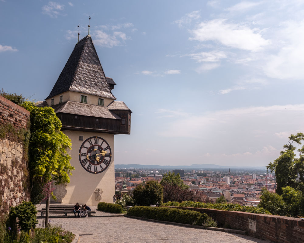 Graz Schlossberg Uhrturm
