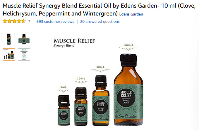 Top Oils for Muscles spasms amazon