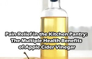 Pain Relief in the Kitchen Pantry: The Multiple Health Benefits of Apple Cider Vinegar