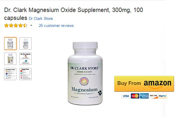 Dr. Clark Magnesium Oxide Supplement Magnesium for Muscle Spasms