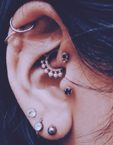 Curated ear piercings also the personally stylizing multiple rh chronicinktattoo