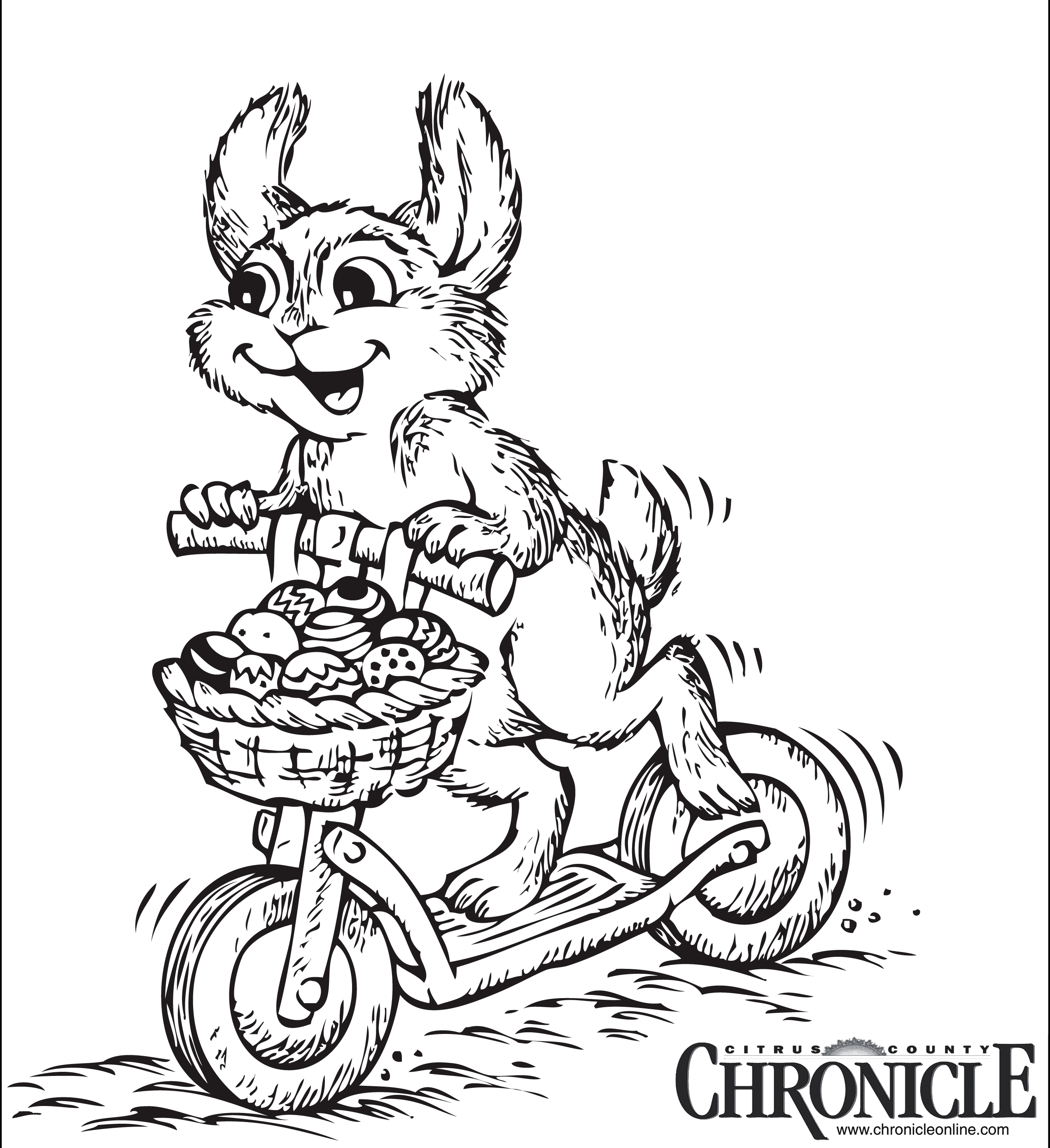 Citrus County Easter Coloring Title