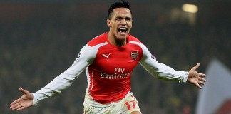 Alexis Sanchez in action for Arsenal