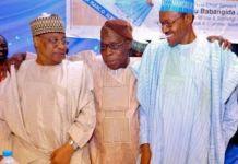 General Ibrahim Babangida (rtd), General Olusegun Obasanjo (rtd) and President Muhammadu Buhari (current president)