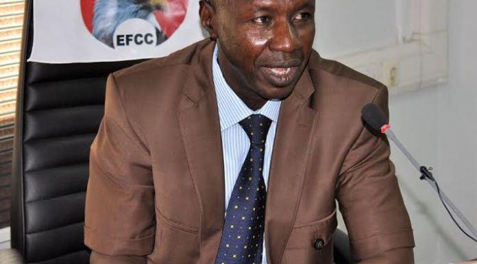 Acting EFCC chairman Ibrahim Magu ozigi