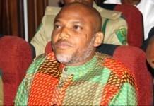 Nnamdi Kanu is the leader of proscribed Indigenous People of Biafra (IPOB)