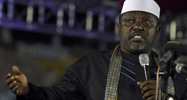 Rochas Okorocha says he EFCC did not arrest him, his wife or family