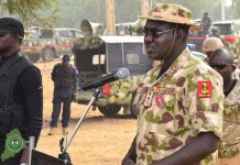 Chief of Army Staff, Lt.-Gen. Tukur Buratai inaugurated the court martial against Maj.-Gen. Hakeem Otiki