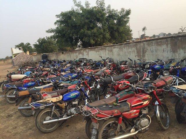 Bandits and criminals have used motorcycles as getaway transportation