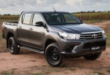 A Toyota Hilux, one of the vehicles seized by the Customs
