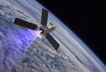 Nano satellite in space