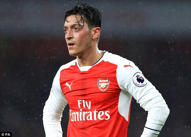 Mesut Ozil has not played for Arsenal this season