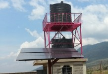 Solar powered boreholes in Unity schools