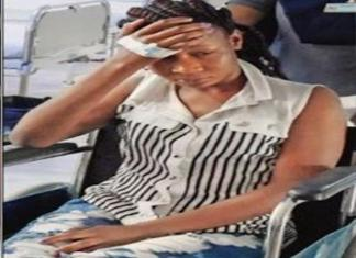 Kenyan Maria Burendi beaten blue and black by Indian mob who mistook her for a Nigerian. Photo: TOI