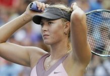 Sharapova is playing at the Italian Open in Rome this week