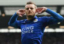 Leicester City striker Jamie Vardy came off the bench to score the winner