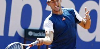 Thiem's powerful forehand was a constant danger to Murray