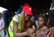 Tiwa Savage recently joined the End Polio Now campaign as a Polio Ambassador.