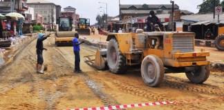 Charity Road in Abule Egba during rehabilitation