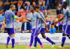 Henry Onyekuru celebrates with teammates