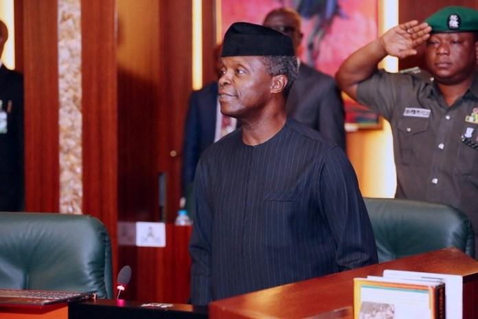 Nigeria's acting President, Prof Yemi Osinbajo oversees the National Economic Council
