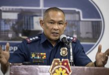 Police Senior Superintendent Romeo Caramat gestures during a press conference at the Philippine National Police (PNP) headquarters in Manila on August 16, 2017.